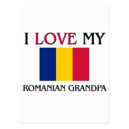 I Love My Romanian Grandpa Postcard