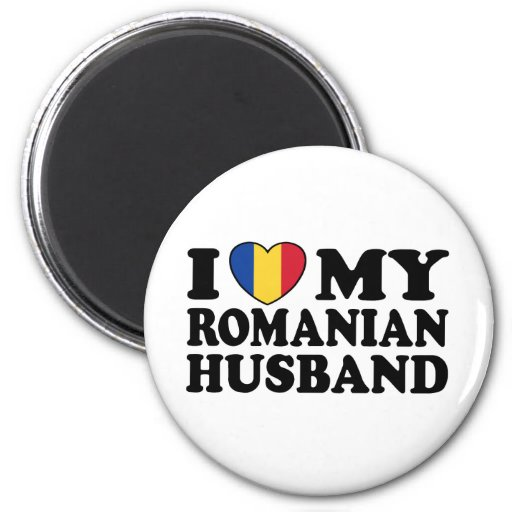 I Love My Romanian Husband 2 Inch Round Magnet