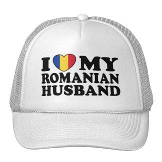 I Love My Romanian Husband Hat