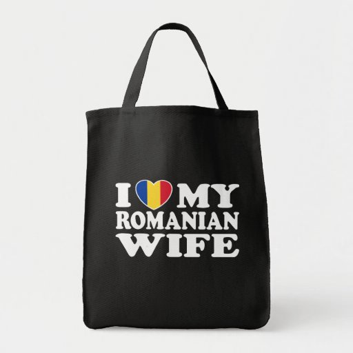 I Love My Romanian Wife Canvas Bags