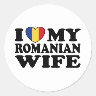 I Love My Romanian Wife Classic Round Sticker