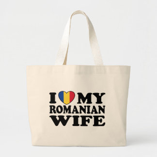 I Love My Romanian Wife Jumbo Tote Bag