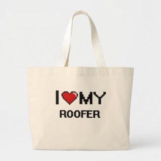I love my Roofer Jumbo Tote Bag