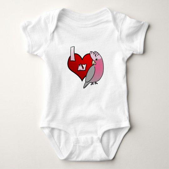 I Love my Rose Breasted Cockatoo Baby Creeper