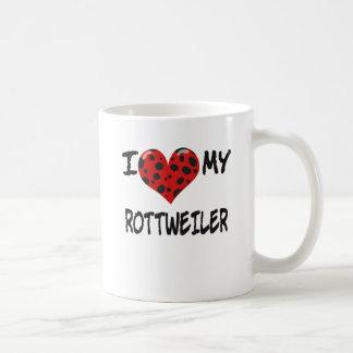 I LOVE MY ROTT WEILER COFFEE MUG