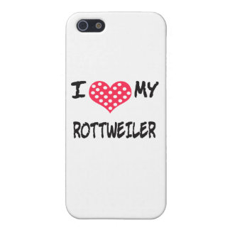 I LOVE MY ROTT WEILER iPhone SE/5/5s COVER