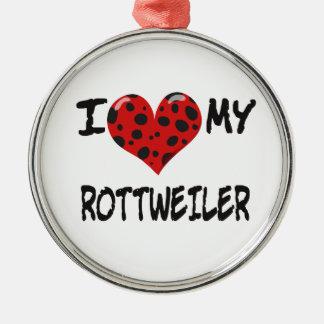 I LOVE MY ROTT WEILER ORNAMENT