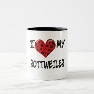 I LOVE MY ROTT WEILER Two-Tone COFFEE MUG
