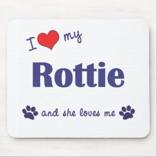 I Love My Rottie (Female Dog) Mouse Mats
