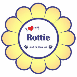 I Love My Rottie (Male Dog) Statuette