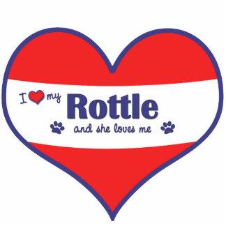 I Love My Rottle (Female Dog) Photo Statuette