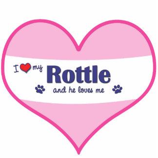 I Love My Rottle (Male Dog) Photo Statuette