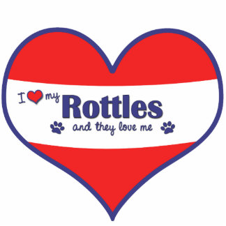 I Love My Rottles (Multiple Dogs) Photo Cutout