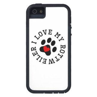 I Love My Rottweiler iPhone 5 Cases