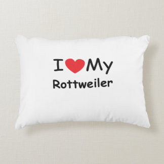 I love my Rottweiler dog Accent Pillow