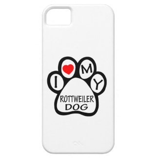 I Love My Rottweiler Dog iPhone 5 Cover