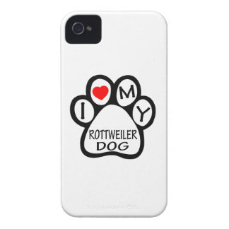 I Love My Rottweiler Dog Case-Mate iPhone 4 Cases