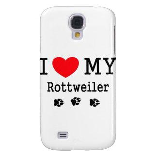 I Love My Rottweiler Galaxy S4 Case