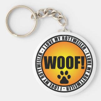 I Love My Rottweiler! keychain