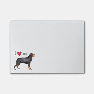 I Love my Rottweiler Post-it® Notes
