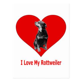 I Love My Rottweiler Postcard