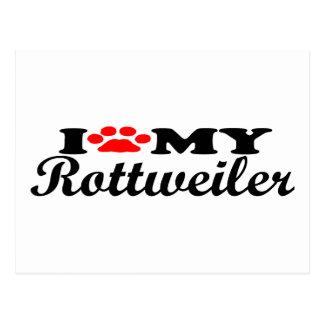 I Love My Rottweiller Postcard