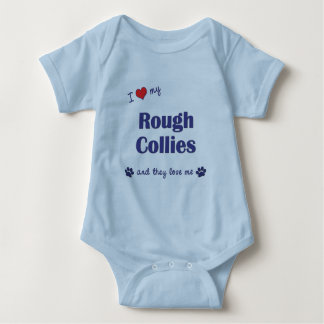 I Love My Rough Collies (Multiple Dogs) Baby Bodysuit