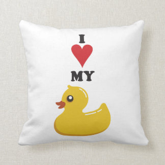 I love my Rubber Duck White & Yellow Throw Pillow