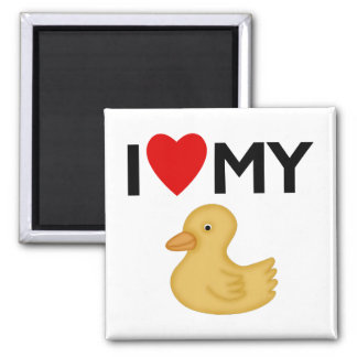 I Love My Rubber Ducky Magnet