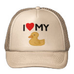 I Love My Rubber Ducky Mesh Hat
