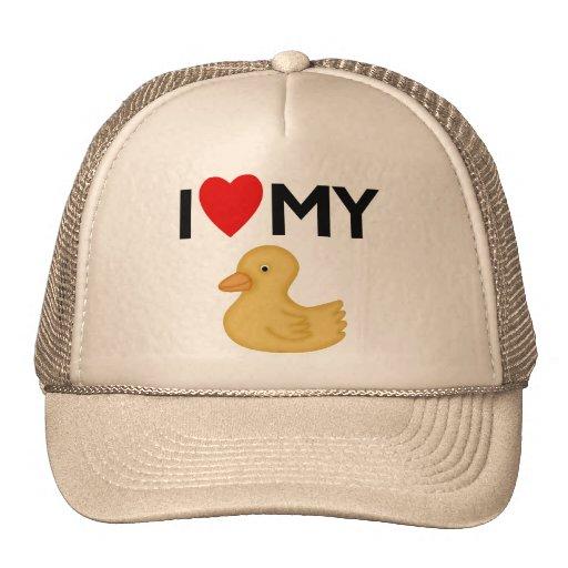 I Love My Rubber Ducky Trucker Hat