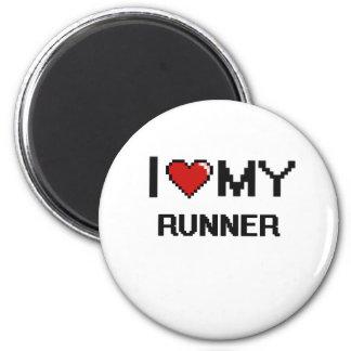 I love my Runner 2 Inch Round Magnet