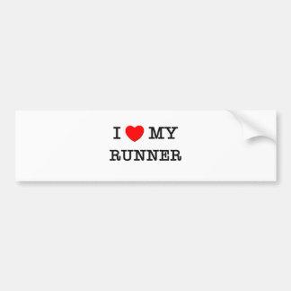I Love My RUNNER Bumper Sticker
