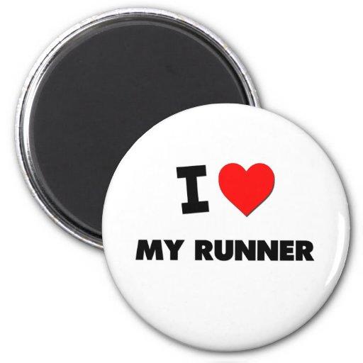 I love My Runner Refrigerator Magnet