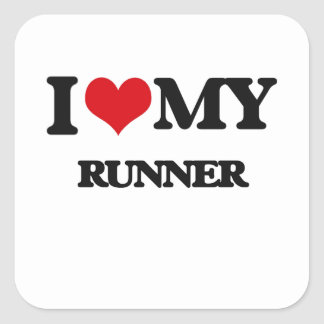 I love my Runner Square Stickers