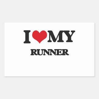 I love my Runner Rectangle Sticker