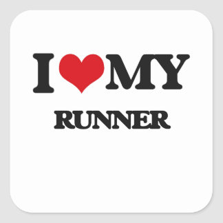 I love my Runner Square Sticker