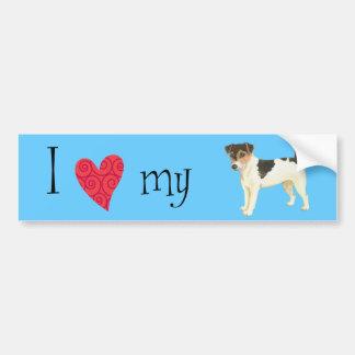 I Love my Russell Terrier Bumper Sticker
