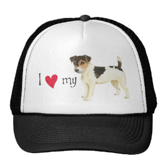I Love my Russell Terrier Trucker Hat