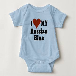 I Love My Russian Blue Baby T-Shirt