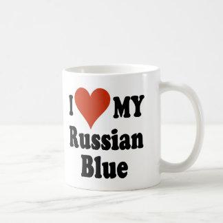 I Love My Russian Blue Cat Merchandise Mug