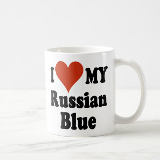 I Love My Russian Blue Coffee Mug