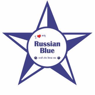 I Love My Russian Blue (Female Cat) Statuette