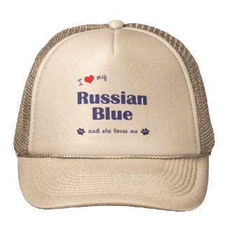 I Love My Russian Blue (Female Cat) Trucker Hat