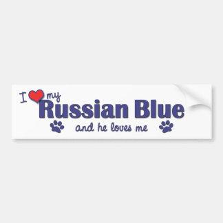 I Love My Russian Blue (Male Cat) Bumper Sticker