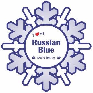 I Love My Russian Blue (Male Cat) Cutout