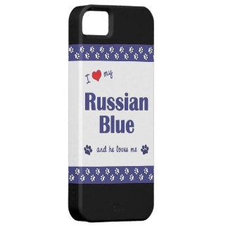 I Love My Russian Blue (Male Cat) iPhone SE/5/5s Case