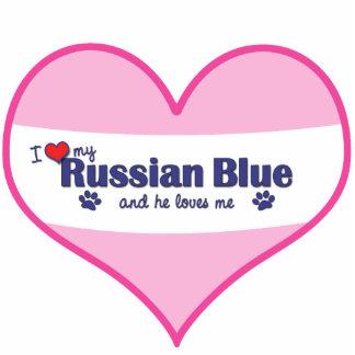 I Love My Russian Blue (Male Cat) Statuette