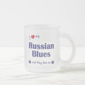 I Love My Russian Blues (Multiple Cats) Mug