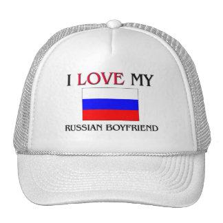 I Love My Russian Boyfriend Trucker Hat